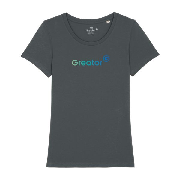 Damen Organic T-Shirt, classic, anthracite