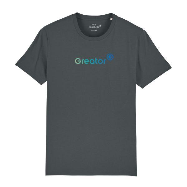 Herren Organic T-Shirt, classic, anthracite