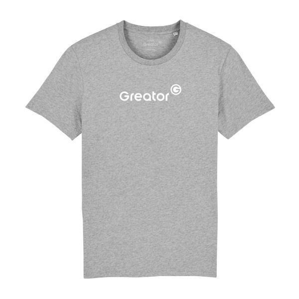 Herren Organic T-Shirt, classic, heather grey